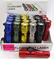 Карманный фонарик BL-C711 + Laser