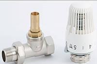 Клапан (кран) прямой термостатический RTL с термоголовкой для контура теплого пола