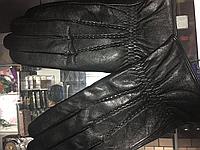 Мужские перчатки из натуральной кожи на махре
