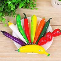 Шариковая ручка Овощи (баклажан, перец, морковь)