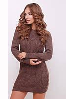 Коротке коричневе в'язане плаття Tina
