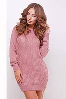 Коротке рожеве в'язане плаття Tina