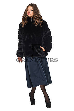 Шуба женская автоледи черная шоколадная полушубок в размерах 42-54, фото 2