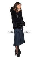 Шуба женская автоледи черная шоколадная полушубок в размерах 42-54, фото 3