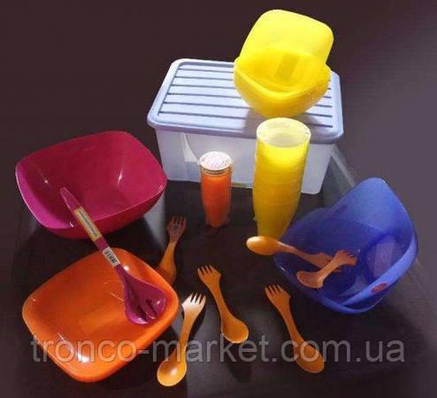 Набор посуды на 6 персон в компактном контейнере, фото 2