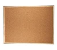 Доска пробковая, 45*60 см., деревянная рамка. BuroMax