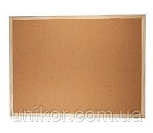Дошка пробкова, 45*60 див., дерев'яна рамка. BuroMax