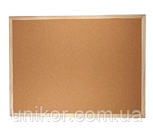 Дошка пробкова, 60*90 див., дерев'яна рамка. BuroMax