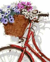 Раскраска на холсте без коробки Идейка Цветочная прогулка 30 х 40 см