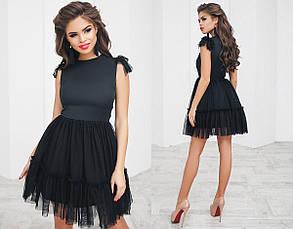 Т3017 Коктейльное платье бэби-долл евросетка\фатин42,44,46, фото 2