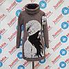 Оптом детские вязанные  туники для девочек  на длинный рукав MODA.ITALYA
