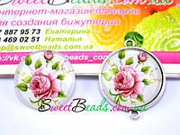 Линзы стеклянные для бижутерии цветные 25 мм