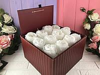 Складная коробка для цветов (бордо)