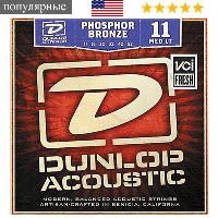 Струны для гитары DunlopPhosphor Bronze Medium Light акустической гитары фосфорная бронза