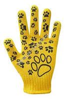 Перчатки желтые детские с ПВХ
