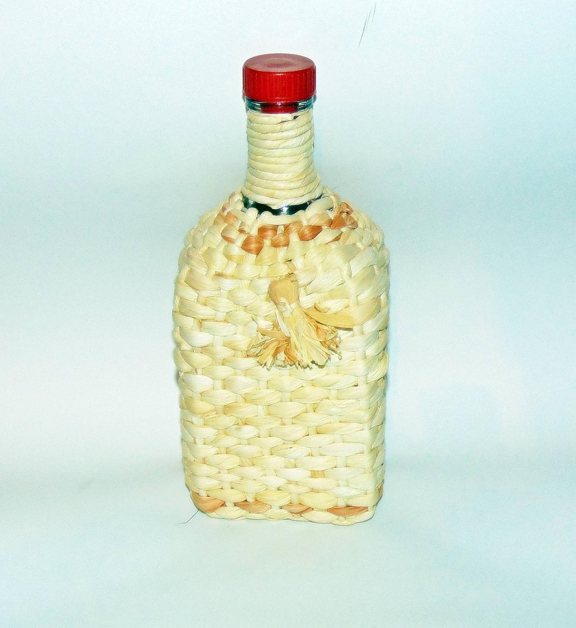 Пляшка 1.2 л «Штоф» плетіння кукурудзою