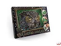 Набор для творчества DIAMOND MOSAIC, алмазная мозайка Сова Danko Toys, DM-02-01