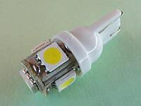 Автосветодиод T10-WG-5SMD(5050)-12V