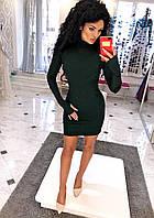 Платье мини с латками на локтях