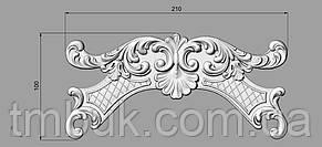 Горизонтальный декор 6 для мебели - 210х100 мм, фото 2