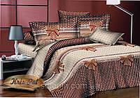"""Нежный комплект постельного белья """"Бантик"""". Размер семейный."""