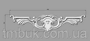 Горизонтальный декор 15 накладка из ясеня - 450х100 мм, фото 2