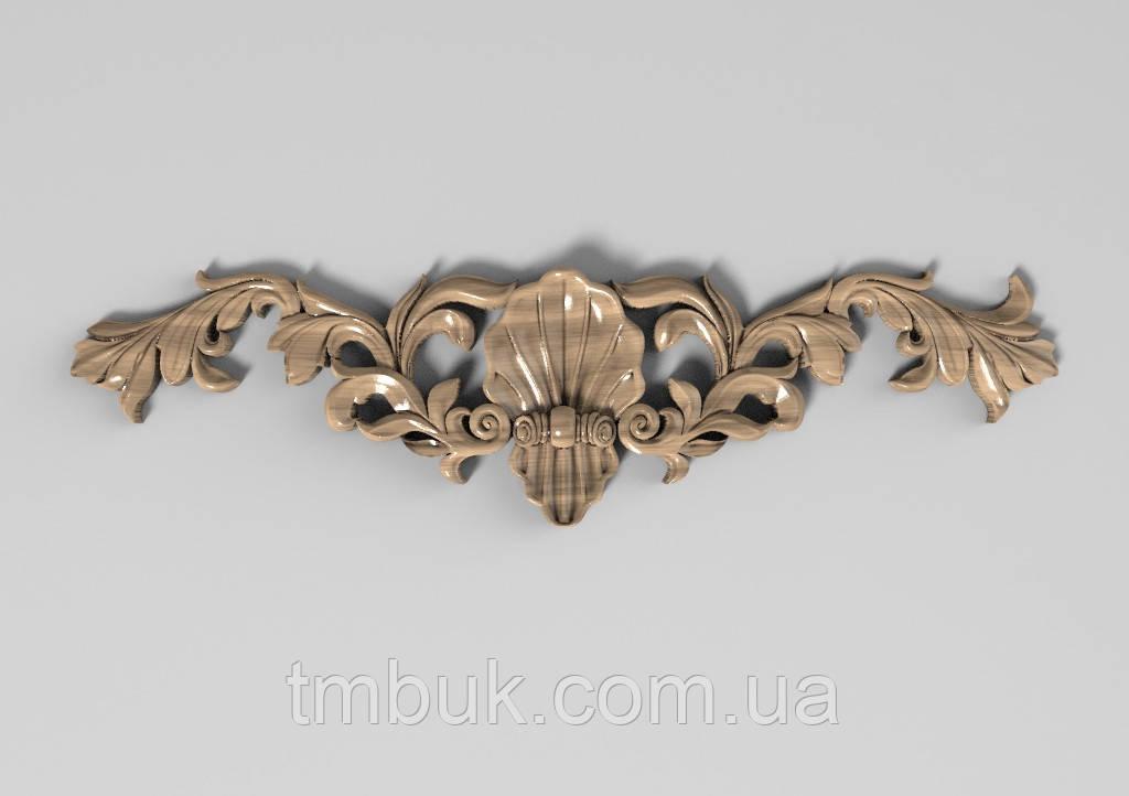 Горизонтальный декор 25 деревянная накладка - 250х65 мм