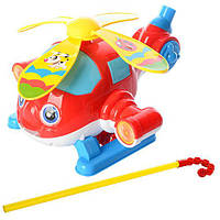 Каталка 0367 (72шт) вертолет, на палке, вертится пропеллер, муз, в кульке,22-17-12см