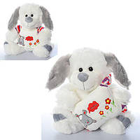 Мягкая игрушка MP 1418 (24шт) собачка, размер средний+, 3 вида, 25см