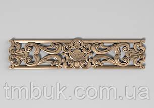 Горизонтальный декор 27 деревянная накладка - 350х80 мм, фото 2
