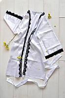 Женский атласный халат с кружевом