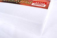 Простынь (наматрасник) на резинке из трикотажа белая