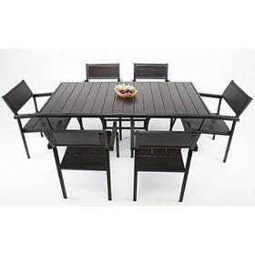 Комплект мебели в летнее кафе Бристоль (стол+6 стульев)