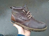 Мужские зимние ботинки Clarks из натуральной кожи и меха