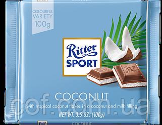 Шоколад молочный Ritter Sport with Coconut 100г (Германия)