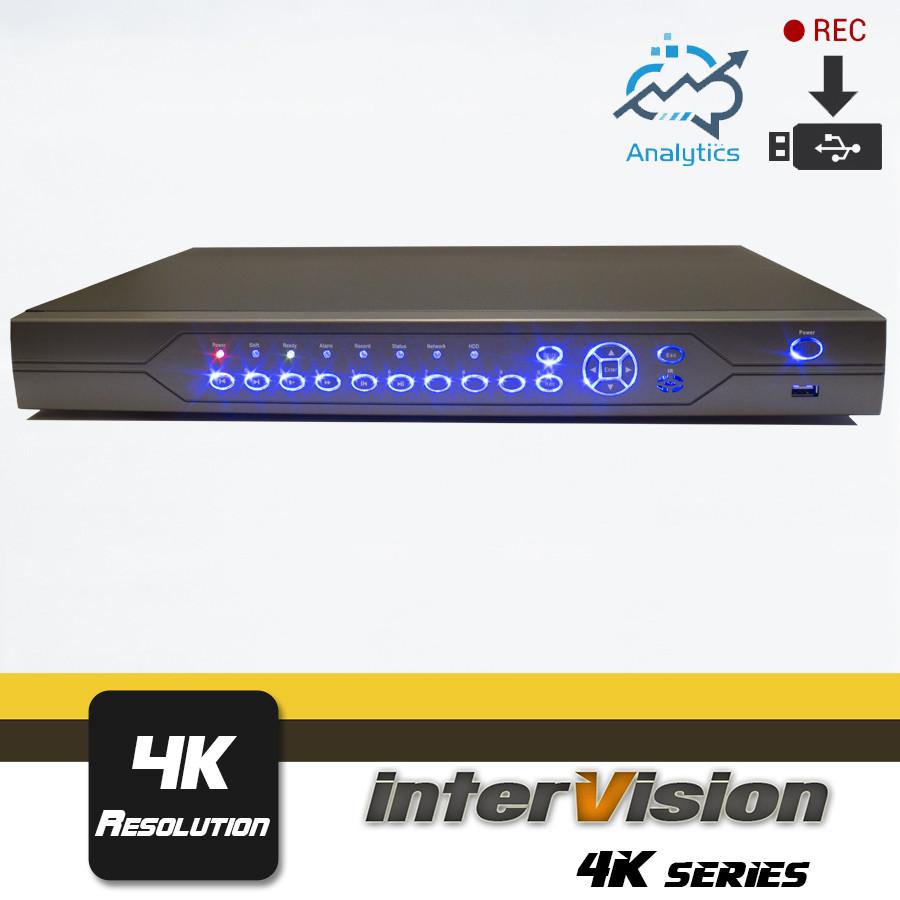 UDR-4K-166USB 16- канальный  видеорегистратор Ultra HD InterVision