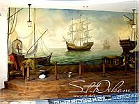 Художественная роспись стен в бассейне