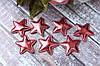 """Апликация """"Звездочка маленькая экокожа"""", 3,3 х 3,3 см, 25 шт/уп, бордового цвета"""