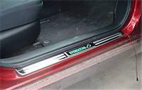 Накладки на пороги Mazda 6 2008-2012 с подсветкой