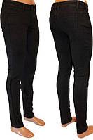Джинсы женские утепленные черные с флисом NEW JEANS  р26-30