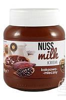 Шоколадная паста Nuss milk молочный шоколад и какао 400 г.