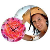 Печать логотипов,  фото и изображений  на часах   d-180 мм