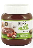 Шоколадная паста Nuss milk молочный шоколад и орехи 400 г.