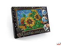 Набор для творчества DIAMOND MOSAIC, алмазная мозайка Цветы Danko Toys, DM-02-02