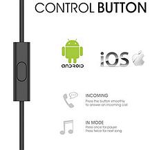 Вакуумные стерео наушники GEVO с микрофоном, фото 2
