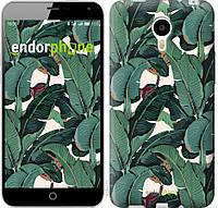 """Чехол на Meizu M1 Note Банановые листья """"3078u-172"""""""
