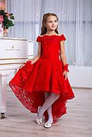Детское нарядное красное выпускное платье для девочки D959, фото 1