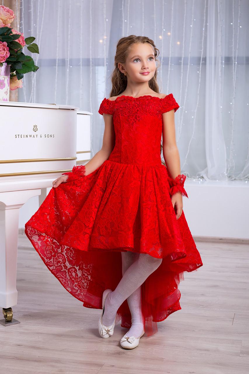 f9de31d205b2cfa Детское нарядное красное выпускное платье для девочки D959 - Baby Butik в  Киеве
