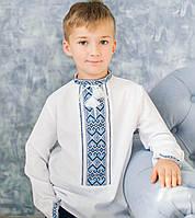 Вишиванки для хлопчиків (домоткане полотно Онікс, ручна вишивка, 1-14 років)