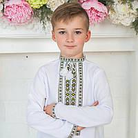 Вишиванки для хлопчиків (домоткане полотно Онікс, ручна вишивка, 1-12 років)